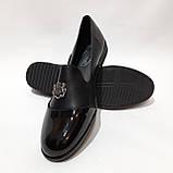 Жіночі туфлі весняні відкриті молодіжні з лаковим носком красиві модні, фото 5