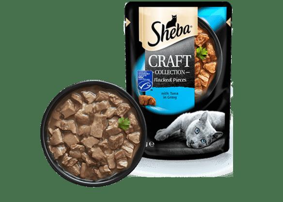 Влажный консервированный корм с Тунцом в соусе 85 г Sheba Craft Pou Шеба Крафт