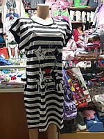 Летнее женское платье туника с карманами р.50 - 54