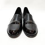 38,39 р. Туфли женские весенние открытые с лаковым носком молодёжные, фото 2