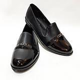 38,39 р. Туфли женские весенние открытые с лаковым носком молодёжные, фото 4