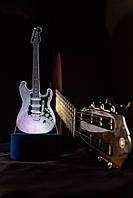 3d-светильник Гитара, 3д-ночник, несколько подсветок (на батарейке)