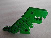Динозаврик Рекс, 3D печать. ( зеленый )