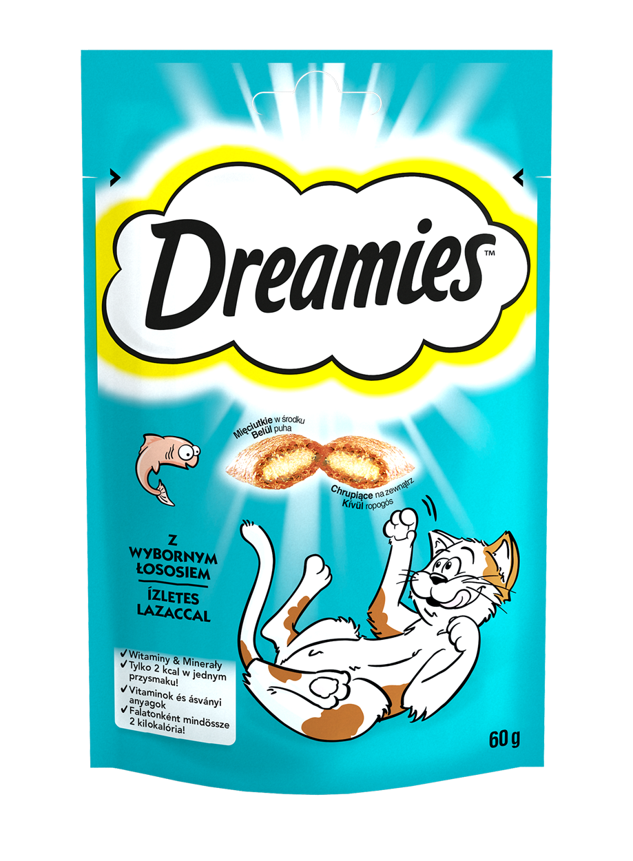 Лакомство с Лососем для кошек 60 г Dreamies Дримс