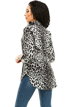 Блузка 294 серый леопард размер 46, фото 2
