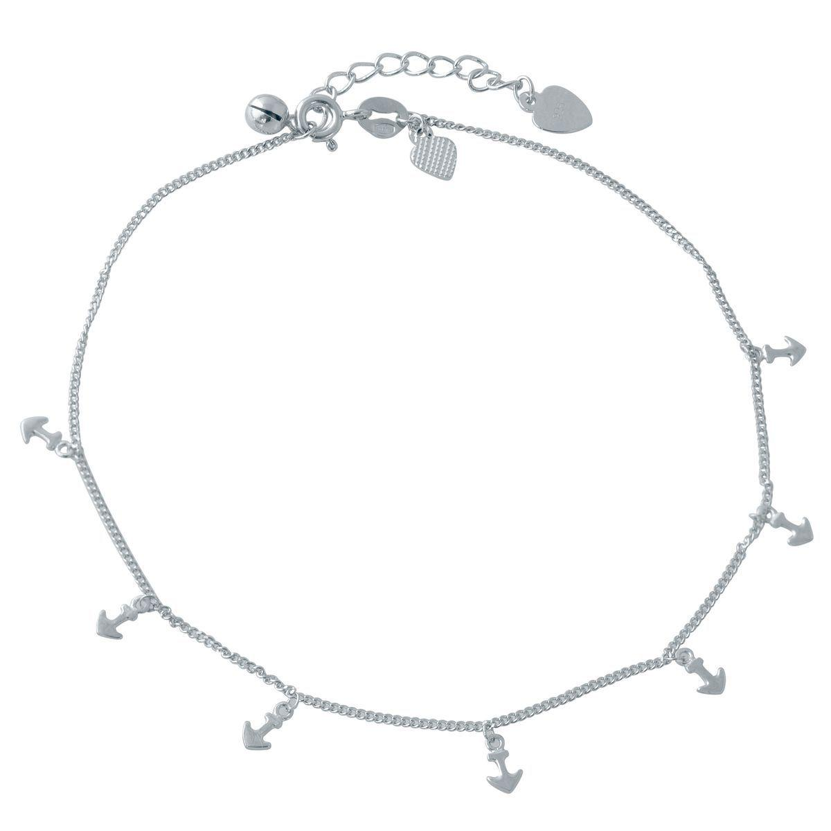 Серебряный браслет на ногу pSilverAlex без камней (2014430) 2326 размер