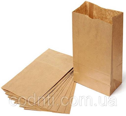 Бумажный крафт пакет  с прямоугольным дном,  без ручек формата 250*140*350мм