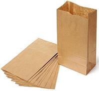 Бумажный крафт пакет  с прямоугольным дном,  без ручек формата 250*140*350мм, фото 1