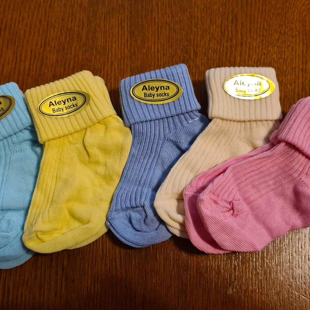 Носки трикотажные для новорожденных 0-6 месяцев.