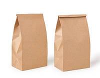 Бумажный крафт пакет с прямоугольным дном,без ручек формата 230*120*290мм