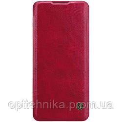 Кожаный чехол (книжка) Nillkin Qin Series для Huawei P40 Pro