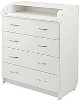 Пеленальный комод Babyroom Комод 4 102x80x50 белый