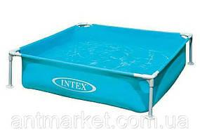 Квадратный каркасный детский бассейн intex 57172