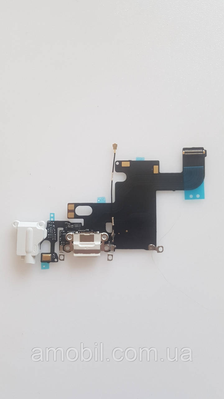 Шлейф iPhone 6 разъема зарядки,гарнитуры, микрофон white orig