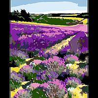 Картина за номерами Квітуче лавандове поле 35х45см Rosa 13442, фото 1