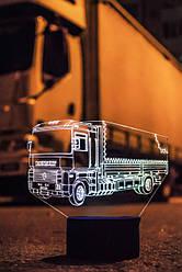 3d-світильник Вантажівка, тягач Рено, Renault, 3д-нічник, кілька підсвічувань (на батарейці)