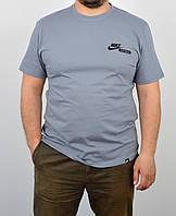 """Мужская футболка """"Cotton"""" 0120 серый"""