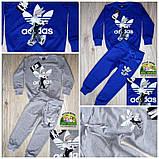Детский спортивный костюм Adidas, светло-серый, фото 2