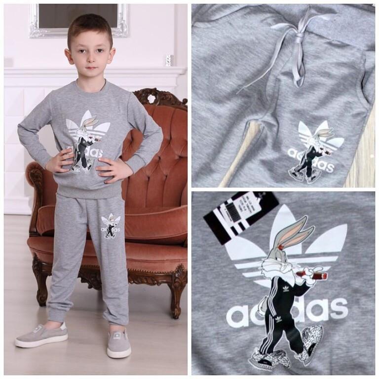 Детский спортивный костюм Adidas, светло-серый