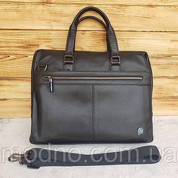 Чоловічий шкіряний портфель для документів H. T. Leather