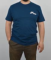 """Мужская футболка """"Cotton"""" 0120 морской"""