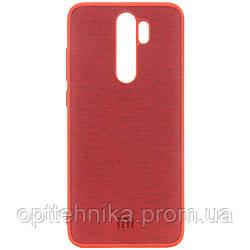 TPU чехол Textile Logo для Xiaomi Redmi Note 8 Pro