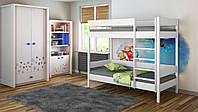 Двухъярусная кровать для детей LukDom Diego 160х80 Белая