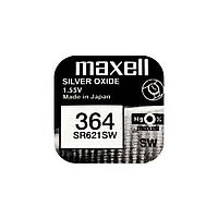 Часовая батарейка Maxell 364 / SR 621 SW / AG1 (1шт.), фото 1