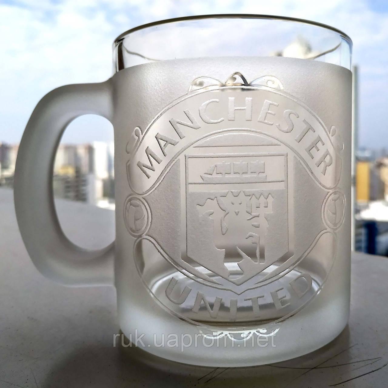 Купить Чашка с гравировкой Манчестер Юнайтед