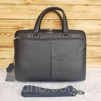 Мужской кожаный деловой портфель для документов H.T. Leather