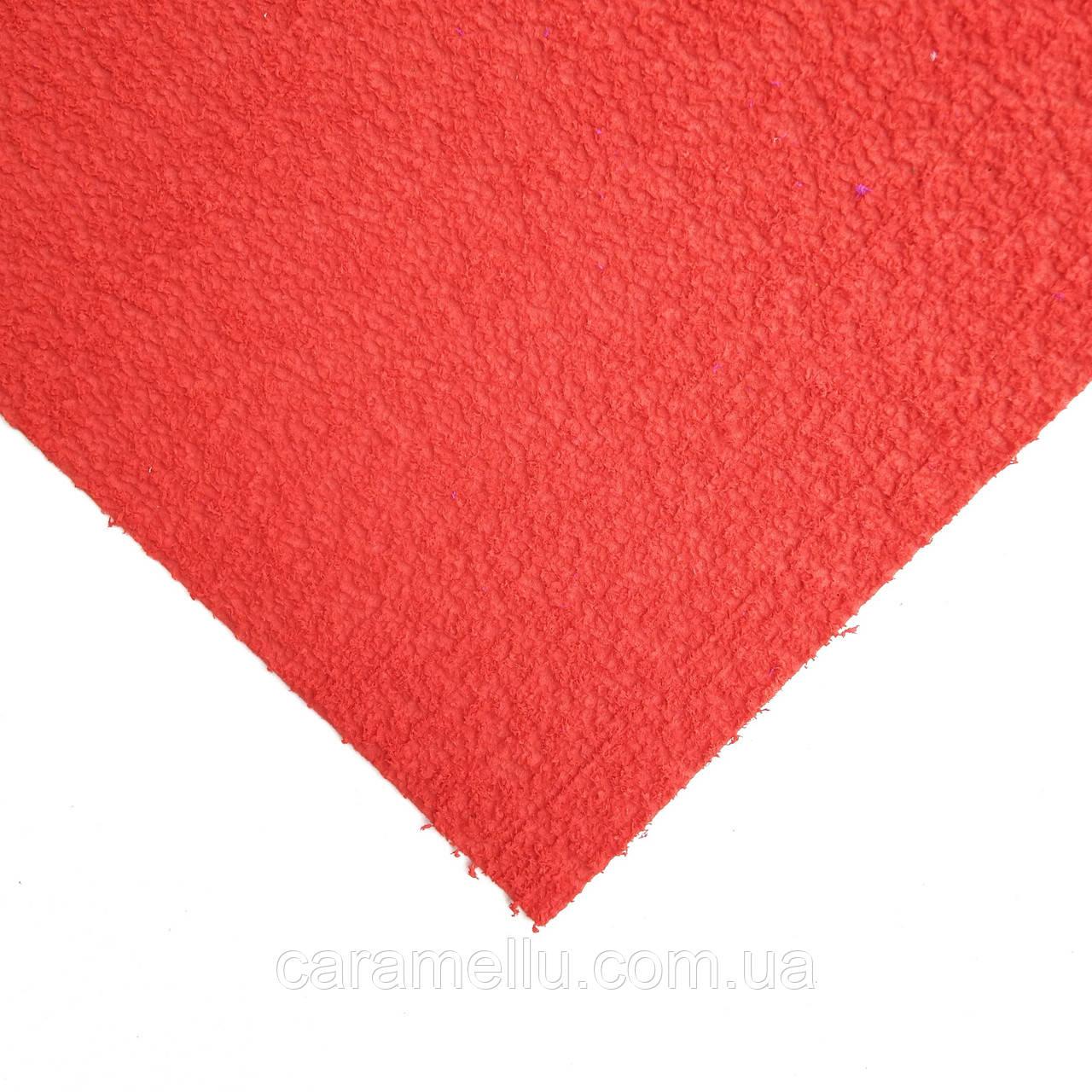 Махровый Фоамиран. Ярко-красный, 20х30см.