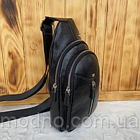Мужская кожаная сумка слинг через плечо Desisan, фото 3