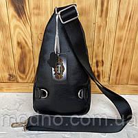 Мужская кожаная сумка слинг через плечо Desisan, фото 4