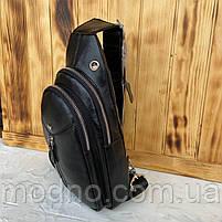 Мужская кожаная сумка слинг через плечо Desisan, фото 2