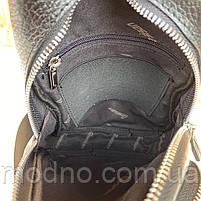 Мужская кожаная сумка слинг через плечо Desisan, фото 6