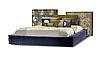 Кровать -ДУО- Кровать с мягким изголовьем.