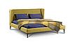 Кровать -УНО- Кровать с мягким изголовьем.