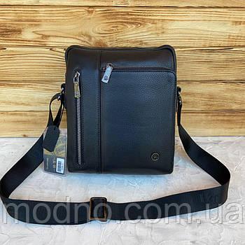 Чоловіча стильна шкіряна сумка через плече H. T. Leather