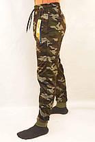 Штаны спортивные мужские камуфляжные под манжет и с молниями на карманах, фото 2