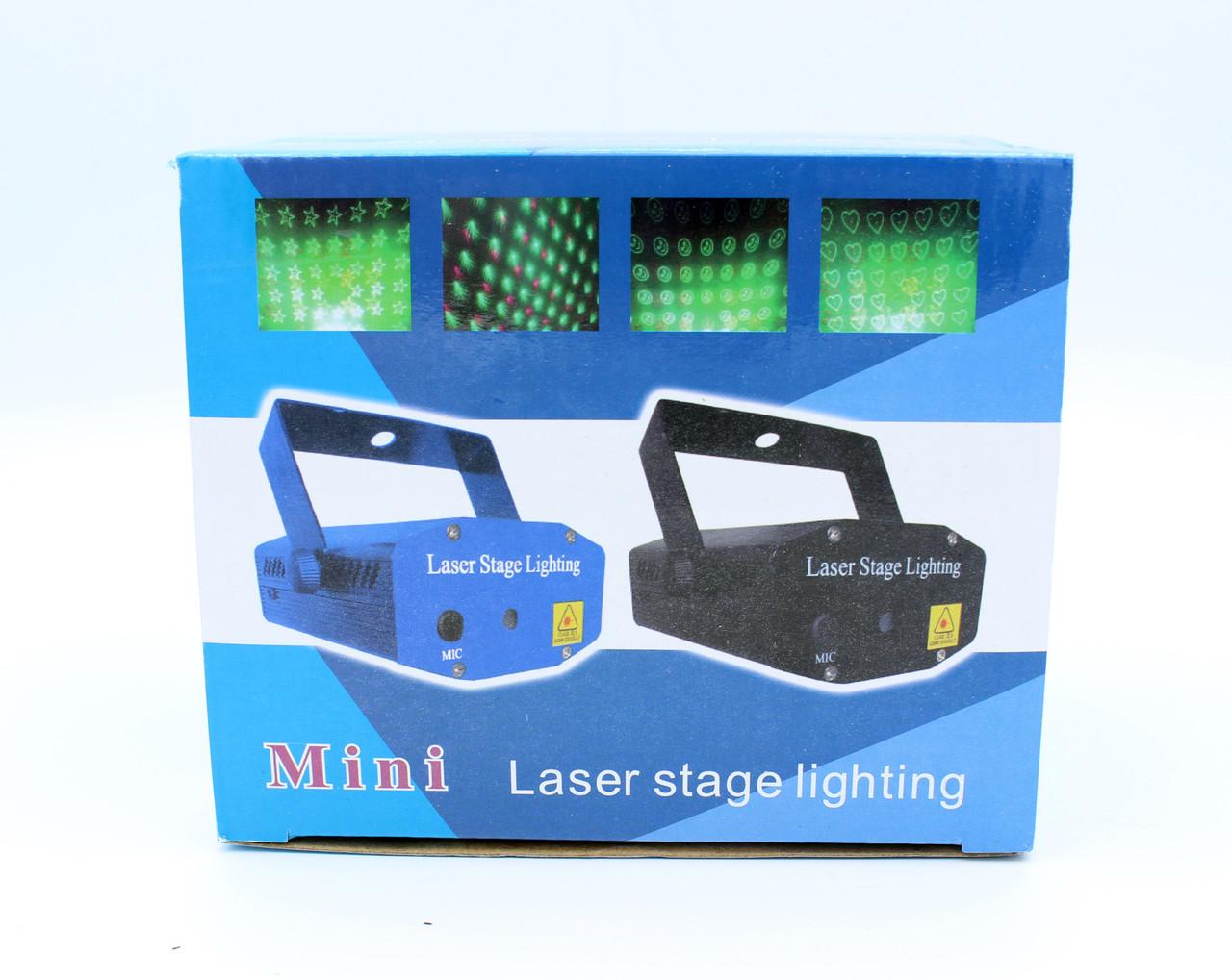 Мини лазер STLS Laser Mini 12 светит Цветочками