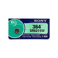 Часовая батарейка Sony 364 / SR 621 SW / AG1 (1шт.), фото 1