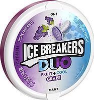 USA Ice Breakers Sugar Free Duo Mints, Grape - Виноградные Леденцы без сахара из США 36 грамм, Айс Брекерс