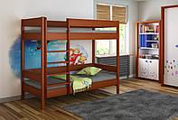 Детская подростковая двухэтажная кровать LukDom Diego 180х90 Темный орех