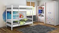 Двухэтажная кровать для детей LukDom Diego 180х80 Белая