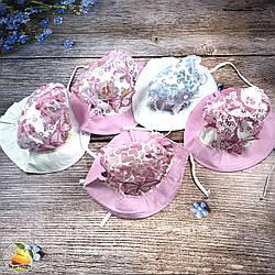 Річна панамочка для маленьких дівчаток (обсяг 48 - 50 см) (3009)