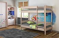 Двухэтажная детская подростковая кровать LukDom Diego 180х90  Беленый дуб