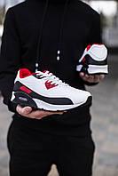 Мужские кроссовки Лейк Барс 90 (черно-красно-белые)