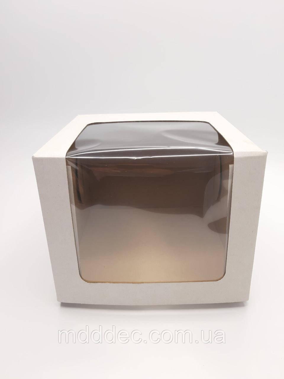 Коробка для торта с окном 250*250*200
