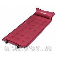 Самонадувной коврик KingCamp Base Camp XL, красный (196x63x3)