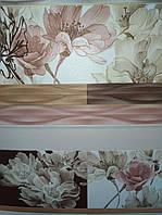 """Шпалери вінілові """" Квіти Раміни """"  коричньові з  кремовим та рожевим,1 Х 10 –Славянские 5697-02"""
